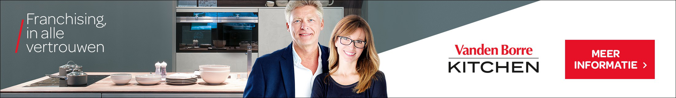 Vandenborre kitchen rekruteert franchisenemers in Vlaanderen
