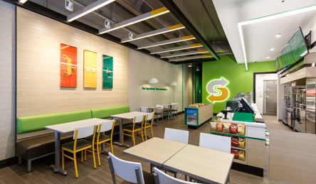 Subway franchise new store design