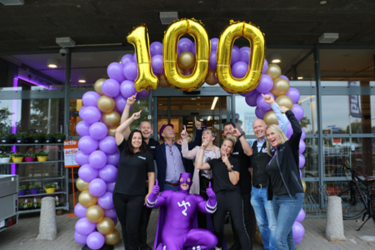 Mijlpaal van 100e Anytime Fitness club in de Benelux