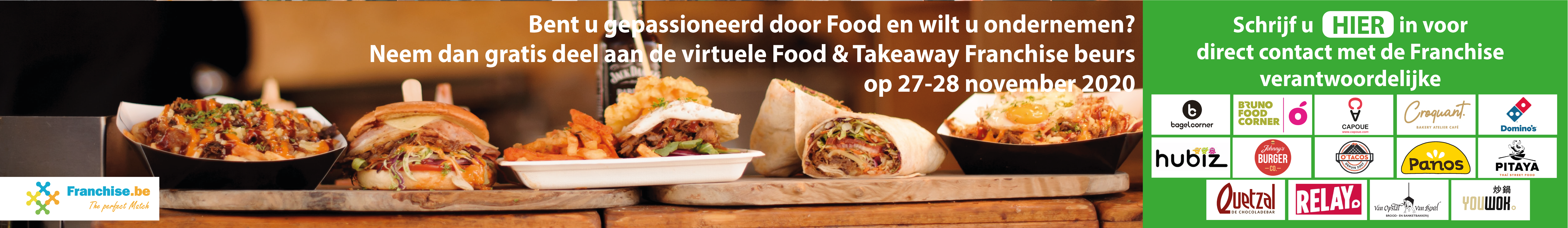 Neem Gratis deel aan de Virtuele Food & Takeaway Franchisebeurs op 27-28 November
